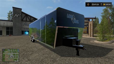 Or 2017 Trailer 30ft Loadtrail Enclosed Trailer Converted V1 0 Fs17 Farming Simulator 17 Mod Fs 2017 Mod