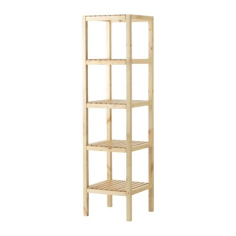 Ikea Bathroom Storage Unit Molger Shelving Unit Birch Ikea