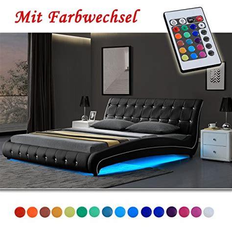 bett unterbodenbeleuchtung vegas schwarz doppelbett polsterbett led