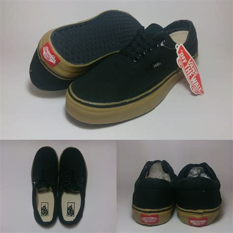 Sepatu Vans Era Black Gum vans era black gum shoes shop id