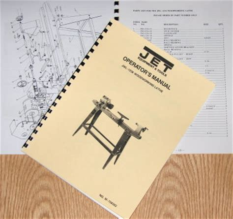 Jet Asian Jwl 1236 Wood Lathe Operator S Amp Parts Manual