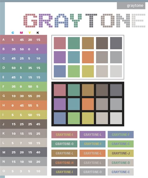 gray color schemes gray tone color schemes color combinations color palettes for print cmyk and web rgb html