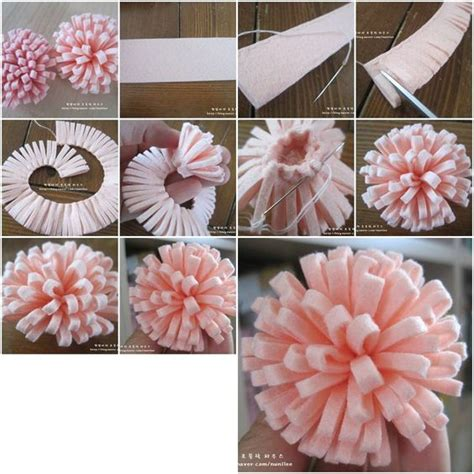 do it yourself crafts how to make simple easy felt flower step by step diy