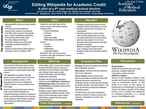 poster design job description file wiki medicine presentation ucsf medical education