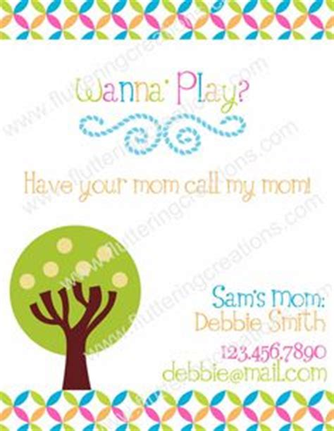 play date cards printable template let s hang out monkey play date cards business cards