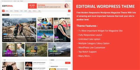 editorial themes introducing editorial free wordpress magazine responsive
