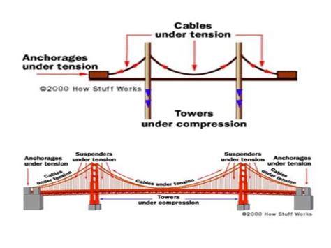 suspension bridge diagram golden gate bridge diagram great pyramid diagram elsavadorla