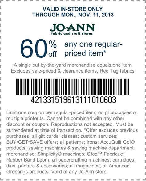 Joann Fabric Printable Coupon 60 Off | joann com 60 off printable coupon coupons pinterest
