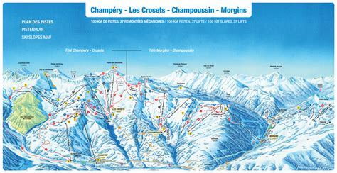 portes du soleil plan morgins piste map plan of ski slopes and lifts onthesnow
