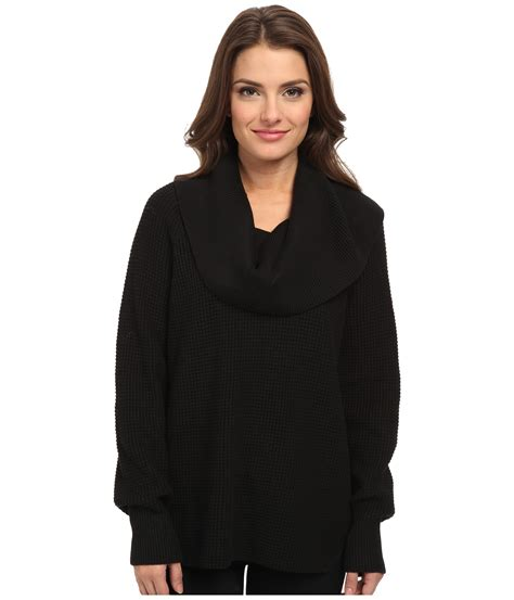 Michael Sweater Black Limited 1 michael michael kors thermal cowl neck sweater in black lyst