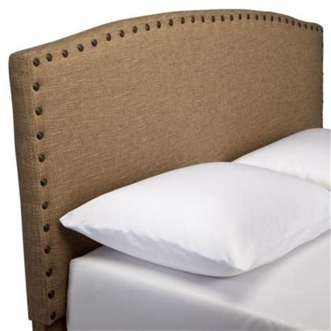 Burlap Upholstered Headboard by Burlap Headboard With Nailheads Target