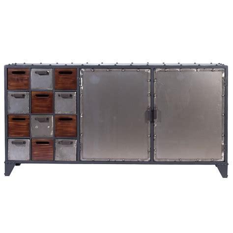 aparador estilo industrial mueble aparador met 225 lico estilo industrial laconia