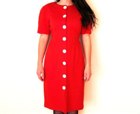 Look Wear Buttons by Pencil Dress Front Button Minnie Mouse Dress Medium