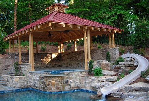 pool gazebo olde world woodworks