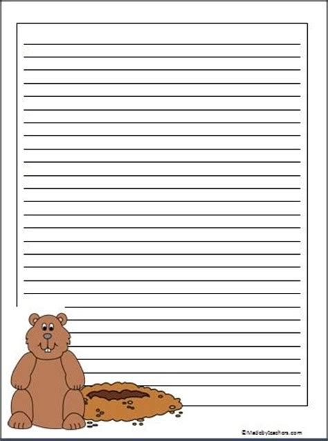 groundhog day writing paper best photos of groundhog writing paper printable