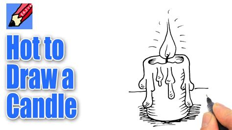 how to draw an i how to draw a candle real easy