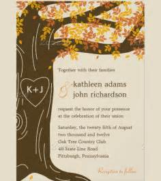 free printable fall invitation templates 24 fall wedding invitation templates free sle