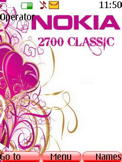 mobile themes love nokia 2700 classic download nokia 2700 theme nokia theme mobile toones
