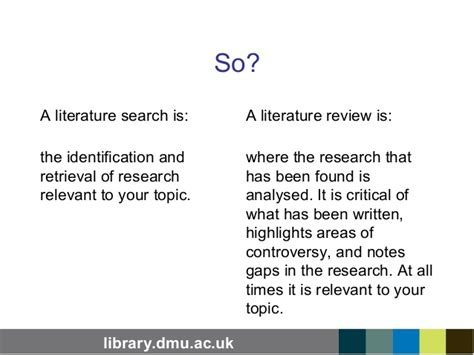 online tutorial literature search whats a literature search