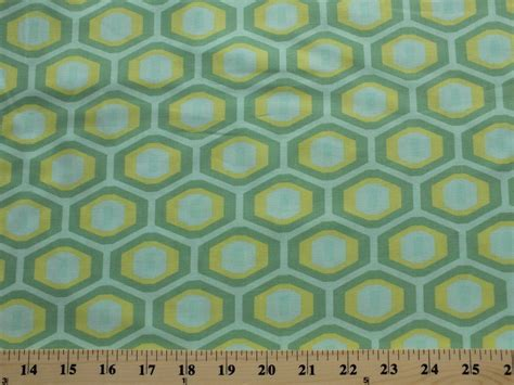 printable fabric by the yard amy butler midwest modern honeycomb cotton fabric print by