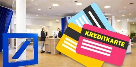 bank kredit karte deutsche bank kreditkarte