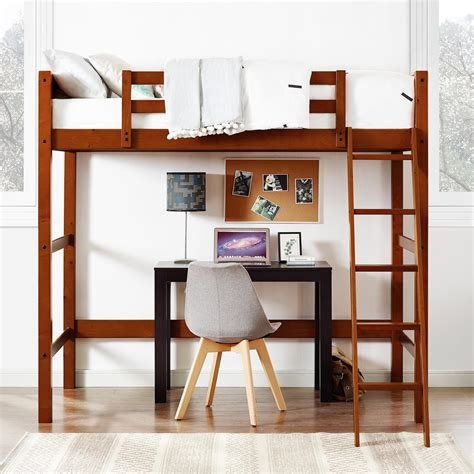 your zone loft bed dorel living your zone loft bed walnut