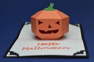 3d card templates 3d pumpkin pop up card template creative pop up cards