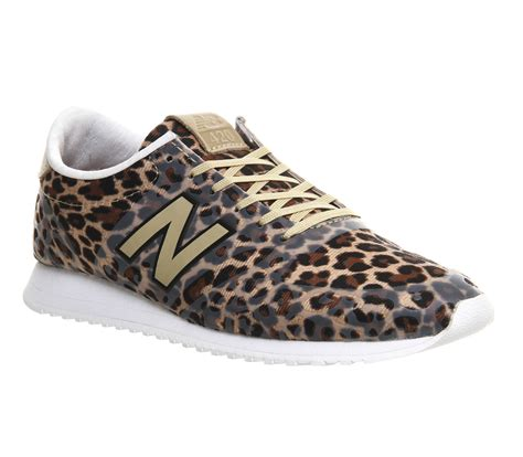 new balance 420 leopard print low top sneakers in lyst