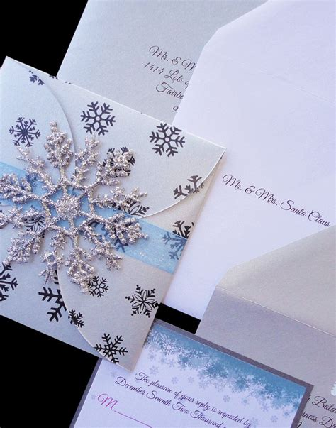 25 best ideas about snowflake invitations on couture wedding invitations handmade
