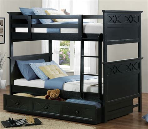 Bunk Beds And Beyond Homelegance Sanibel 4 Bunk Bed Bedroom Set In Black Beyond Stores
