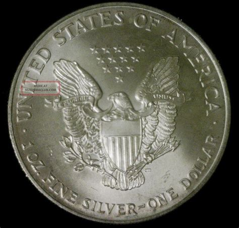 1 Oz Silver One Dollar - 1996 american silver eagle dollar 1 ounce coin 999