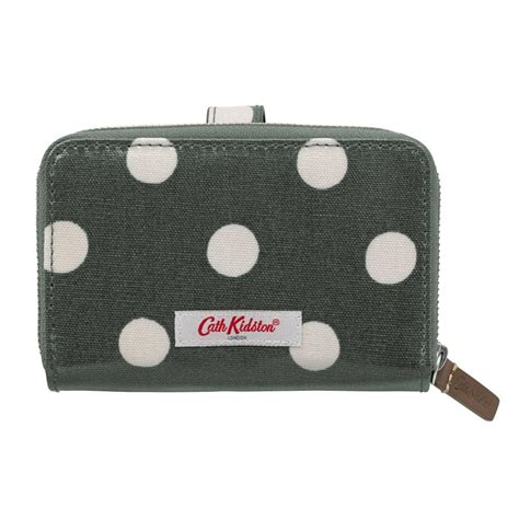 Tempat Id Card Cathkidston lyst cath kidston 3 part wallet in green