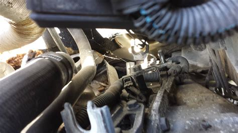 frayed gear shift cable