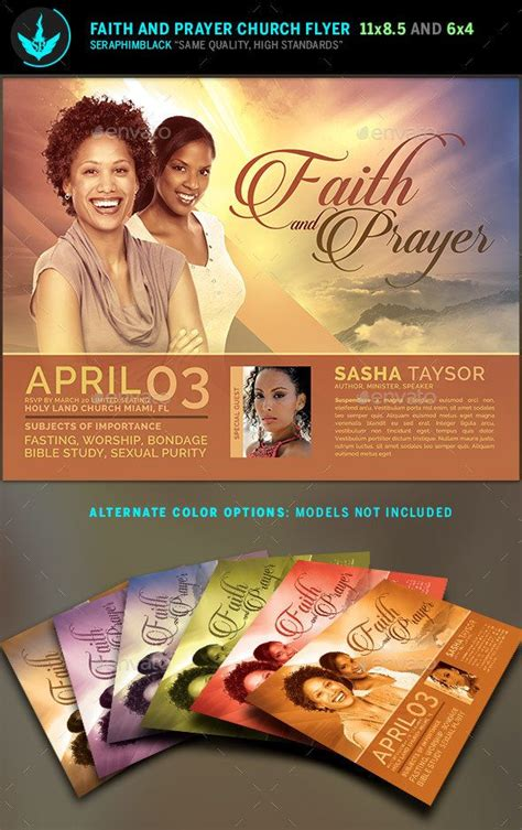 Faith And Prayer Church Flyer Template Flyer Template Template And Churches Prayer Flyer Template