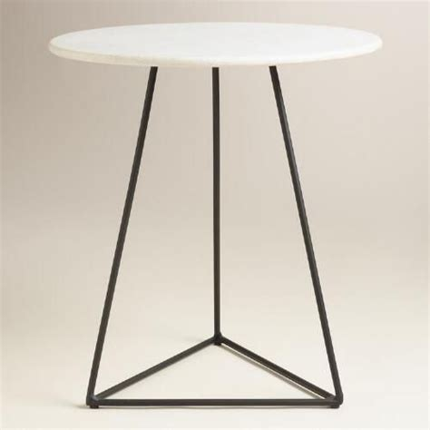 small round metal accent table white marble and metal round accent table v1 the