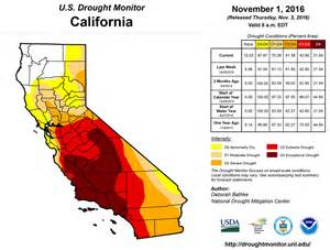 california and national drought summary for november 1 2016