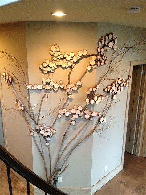 three sided wall art tree art twig art for wall decor