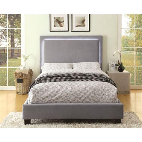 luna bedroom furniture furniture of america luna queen led bed in gray idf 7695gy q