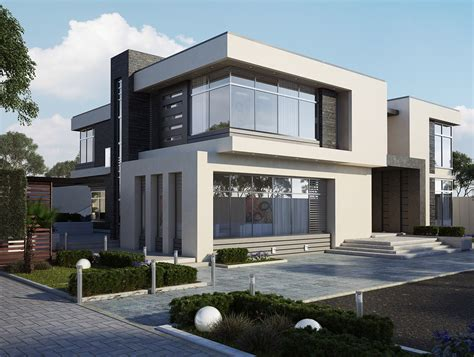 two storey modern home with plan design architecture and
