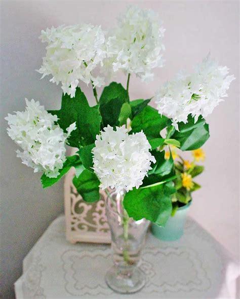jual bunga plastik hias artificial hydrangea flower