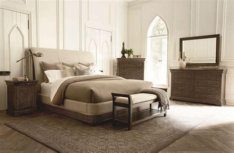 st germain upholstered sleigh bedroom set  art coleman furniture