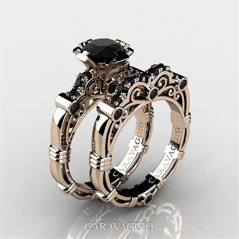 Wedding Bands Black Diamonds by Masters Caravaggio 14k Gold 1 0 Ct Black