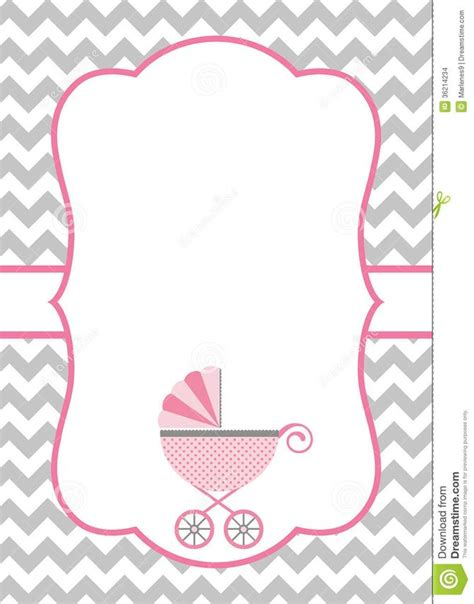 How To Make A Baby Shower Invitation Template Using Microsoft Word Baby Shower Design Templates