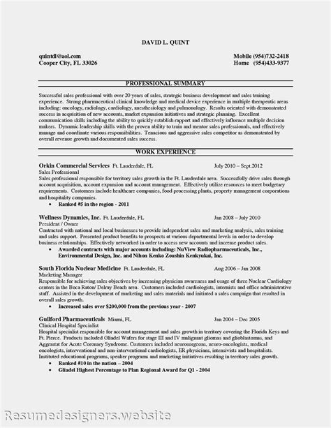 Resume Sles For Experienced Resume Entry Level Sales Associate