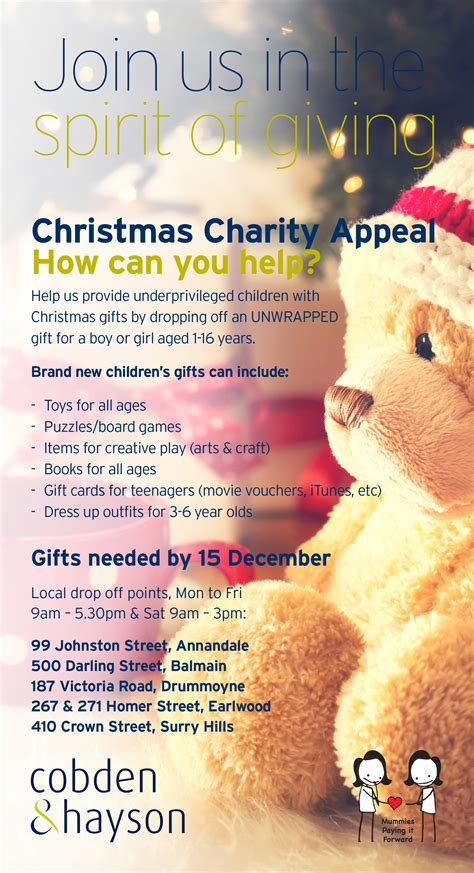 christmas gift appeal cobden hayson