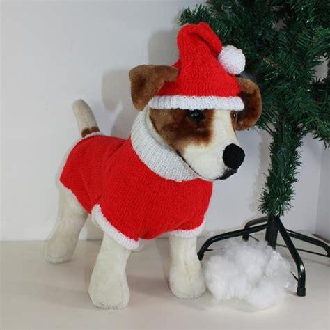 knitting pattern for christmas dog coat dog christmas santa hat and coat knitting pattern by