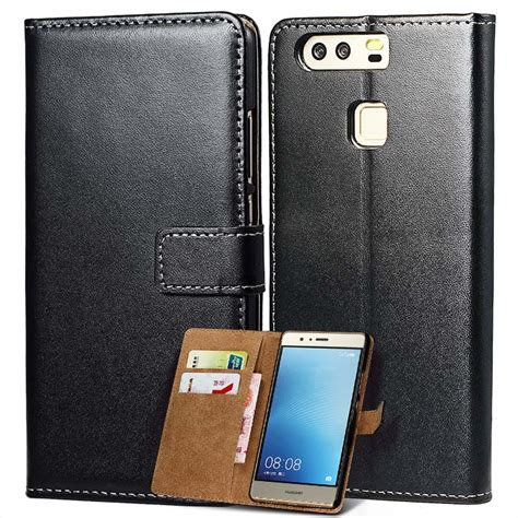 Best Huawei Ascend P9 Lite Wallet Leather Flip Book C Limited flip wallet for huawei p9 lite p9 coque luxury genuine leather phone bag cover for huawei