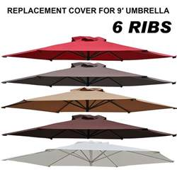 Replacement Patio Umbrella Canopy 9ft Patio Umbrella Cover Canopy 6 Ribs Replacement Parasol Top Outdoor Ebay