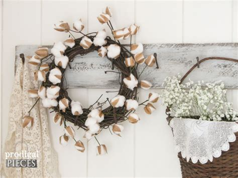 cotton diy christmas cotton branches diy farmhouse decor prodigal pieces