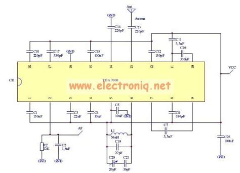 am radio integrated circuit tda7000 fm radio circuit design electronic project